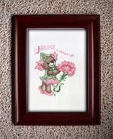 Beautiful X-stitch teddy bear in a frame. Only $25 (NZ).