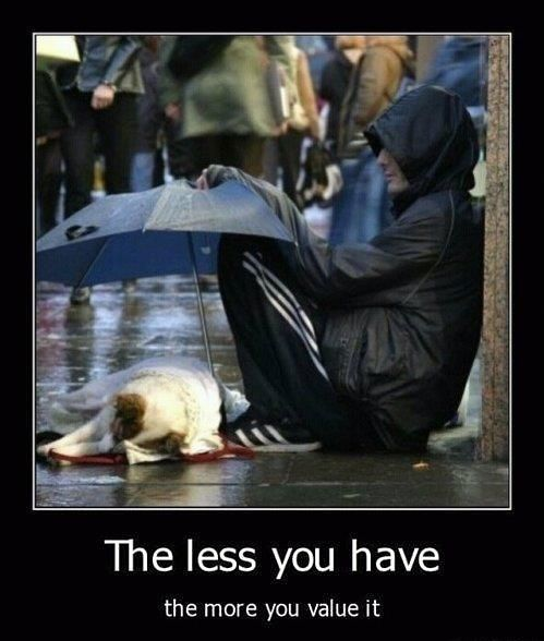The less you have... - The Meta Picture