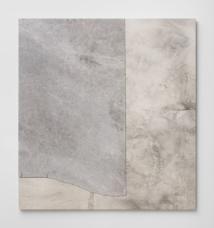 """Sam Moyer, """"Being There,"""" 2014, marble, ink on canvas mounted to mdf panel, 52 x 48 x .75 inches"""
