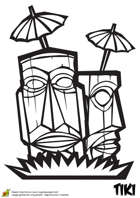40 best Coloriages Totem Tiki images on Pinterest | Coloring pages ...