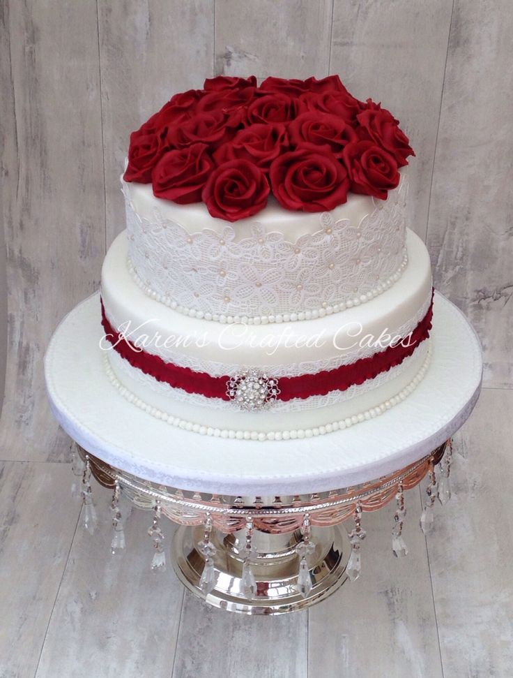 designs for ruby wedding cakes best 25 ruby wedding cake ideas on 40th 13479