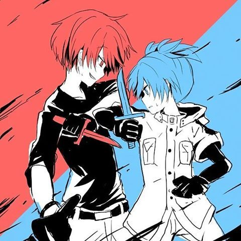 """I finally know all of you."" Which is really funny because this is the actual first time Karma saw Nagisa go all out. - DA 