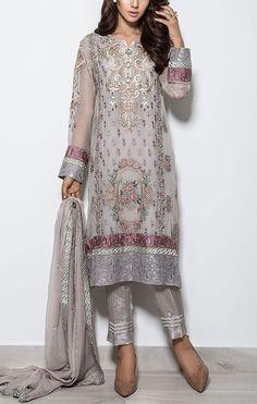 Buy Light Grey Embroidered Chiffon Salwar Kameez by Baroque 2015 Call: (702) 751-3523 Email: Info@PakRobe.com www.pakrobe.com https://www.pakrobe.com/Women/Clothing/Buy-Designer-Chiffon-Dresses #DESIGNER #CHIFFON #DRESSES