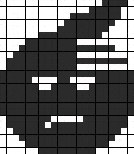Death The Kids Soul From Soul Eater Perler Bead Pattern / Bead Sprite