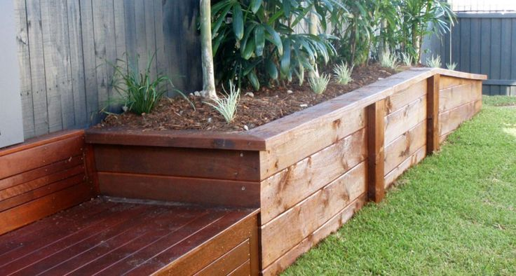 Engineered Sleeper Retaining Walls - Garden Planter Boxes - Privacy Fencing | JRS Timber Fencing