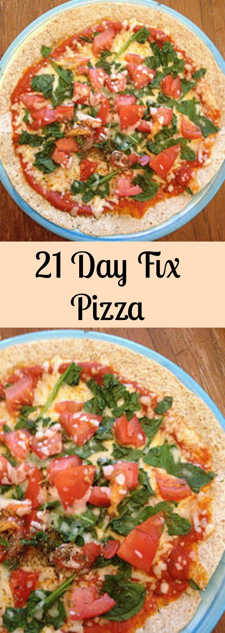 Quick & easy pizza recipe. 21 Day Fix approved!
