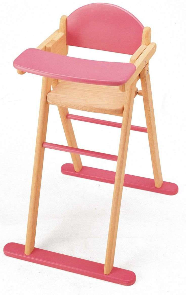 Wooden baby high chair - Doll S Wooden High Chair