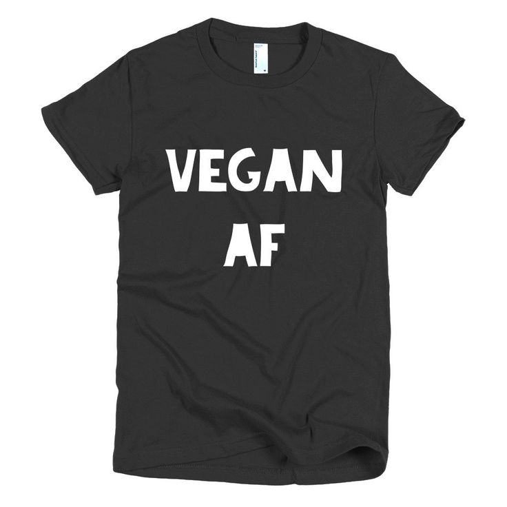 Excited to share the latest addition to my #etsy shop: Vegan AF Funny Short sleeve women's t-shirt - Vegan T-shirt - Vegan t-shirts- Vegan t shirt - Vegan clothes - Gift for her http://etsy.me/2FfPsdF #clothing #women #tshirt #veganshirt #vegantshirt #vegan #vegancloth