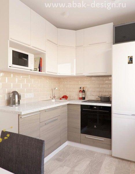 Готовые дизайн-проекты квартир в домах серии П-44Т - Однушка правая - Кухня 6,9 м2