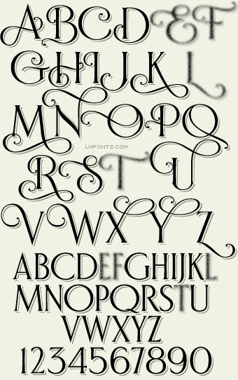LHF Bella Vista Shadow™. Elegant curves make this typeface perfect for designs requiring an air of sophistication. Set includes Regular, Shadow and Inset versions. Includes 14 bonus alternates.