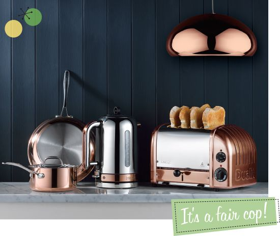 COPPER CLASSIC TOASTER AND KETTLE DUALIT