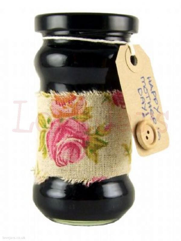 We love Jar Wraps - Fabric Rose Print 50cm - find them in our online shop under Rosie's Pantry: Jar Wraps, Fabric Wraps