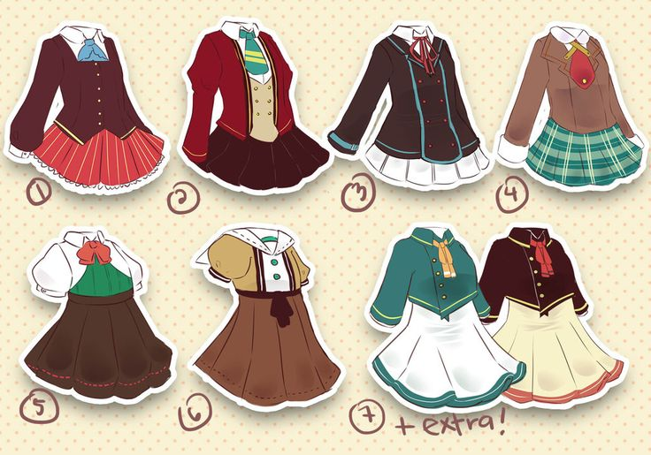 Adoptables #8 Back to School III [CLOSED] by minniekki on DeviantArt