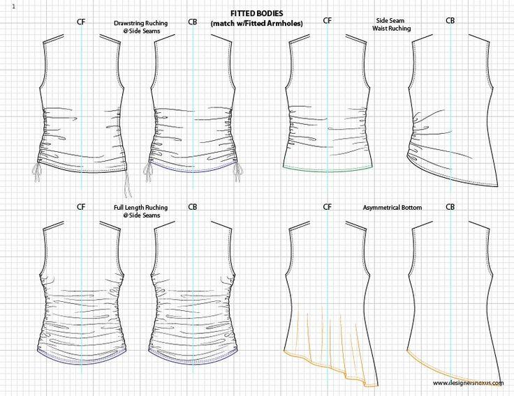 Adobe Illustrator Flat Fashion Sketch Templates - My Practical Skills   My Practical Skills