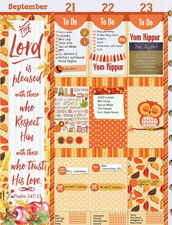 Bible Journaling or Planner Printables for by DigiScrapDelights #planner #stickers #decoration #decor #organization #fall #autumn #thanksgiving #biblejournaling