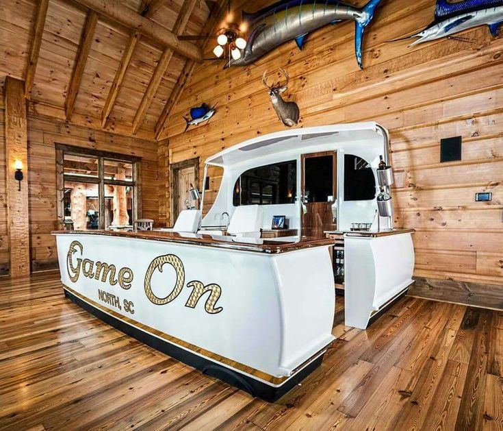 """How To Create The Ultimate Man Cave: """"Jarrett Flagship Bar"""" Built By Jarrett Bay Boat Works"""