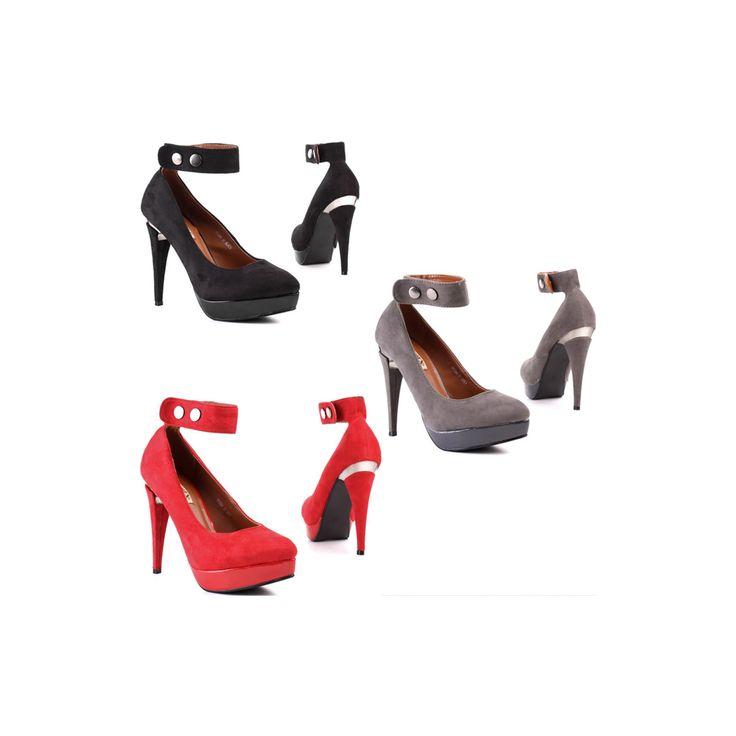€8.99 http://goo.gl/xMucPE  Divine decolletè donna scamosciate con tacco a spillo 12 cm. e comodo plateau 2 cm. cinturino alla caviglia, interno in pelle, sexy e adatte per ogni occasione. La scarpa calza bene rispetto alla numerazione indicata, per le misure precise visualizza la tabella in basso.