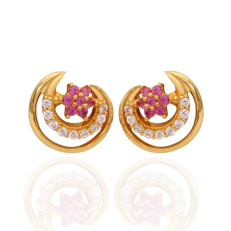 Oriana - The Light Weight Jewellery | Floral Chand Gold Earrings | GRT Jewellers
