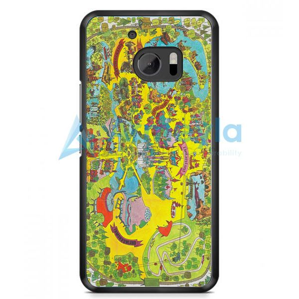 Vintage Walt Disney World Map Fantasyland 1971 HTC One M10 Case | armeyla.com