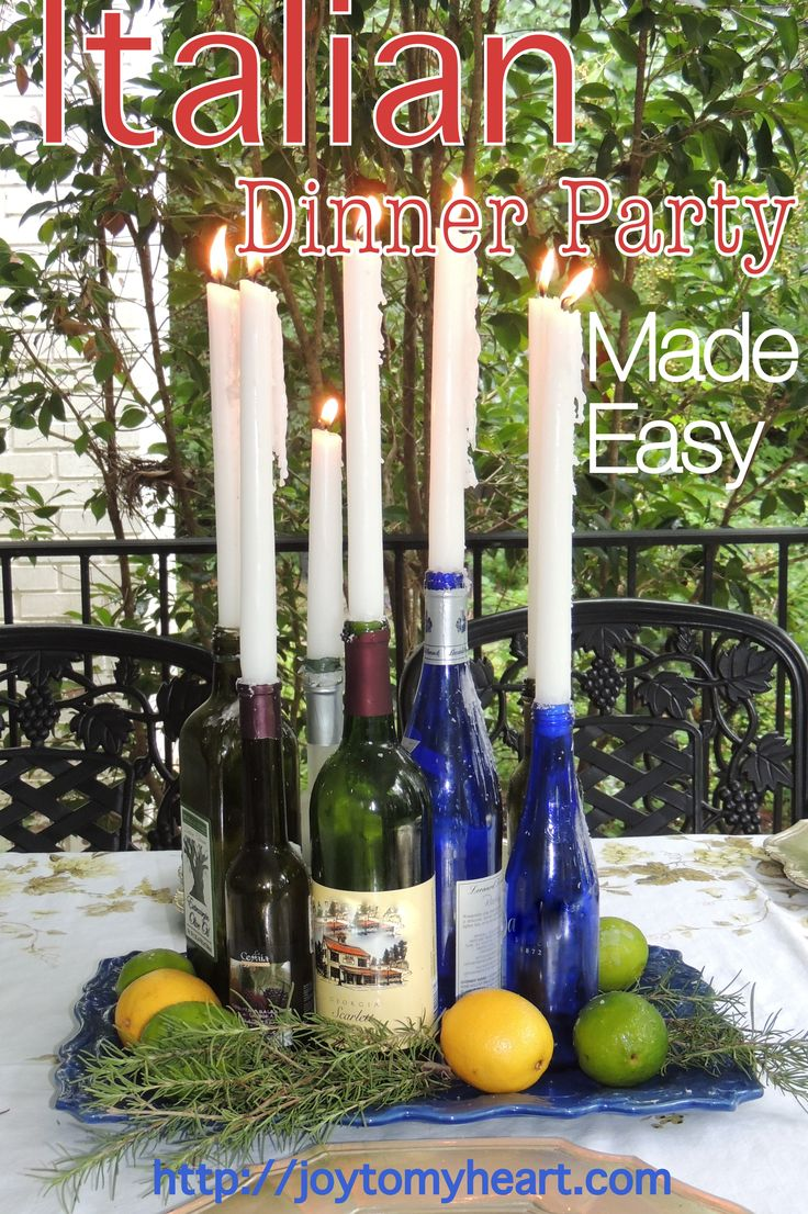 Italian table decorations - As Summer Winds Down Your Days For An Outdoor Italian Dinner Party Are Limited