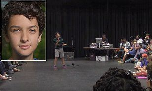 Royce Mann, 14, competed in his private school's poetry slam in Atlanta, Georgia and took home first prize. He recited from memory a poem he wrote called White Boy Privilege.