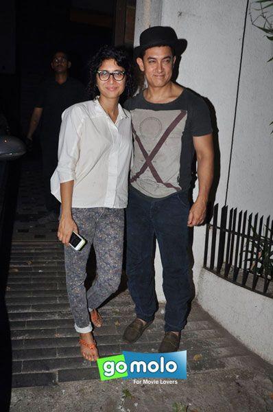 Kiran Rao & Aamir Khan at the Celebration of Aamir Khan's son Azad Khan's birthday in Bandra, Mumbai