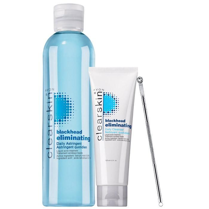 "Clear your blemishes and help prevent new ones. Collection includes:<br><br><b>Daiy Astringent</b><Br>8.4 fl. oz. A 4.99 value.<br><br><b>Daily Cleanser</b><Br>4.2 fl. oz. A $5.49 value.<br><br><b>Dual-Ended Blackhead Remover</b><Br>5"" L. Iron with chrome plating. Plastic pouch. A $5 value."