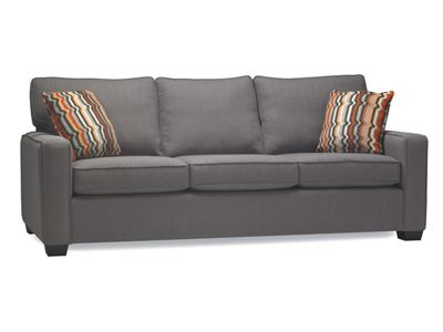 (so many options here, though takes about 6 weeks to make; I already know the fabric I'd want though and the owner was helpful and willing to help with budget) Masi Sofa