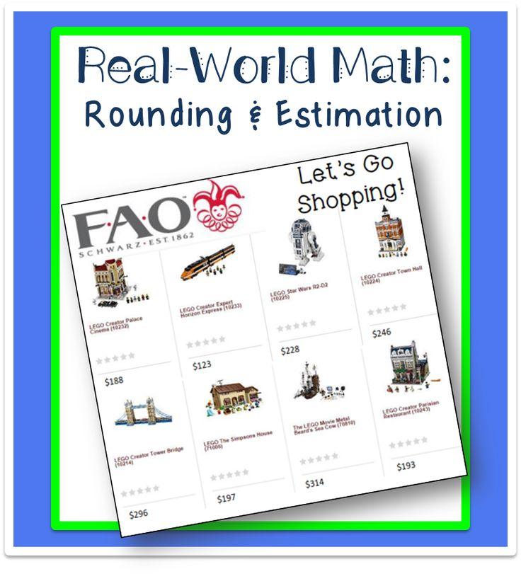 Whole Numbers Estimation: Real World Math Freebie | Life, Love, Literacy