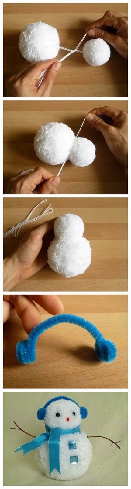 DIY Snowman winter diy craft crafts easy crafts diy ideas snowmen crafts for kids