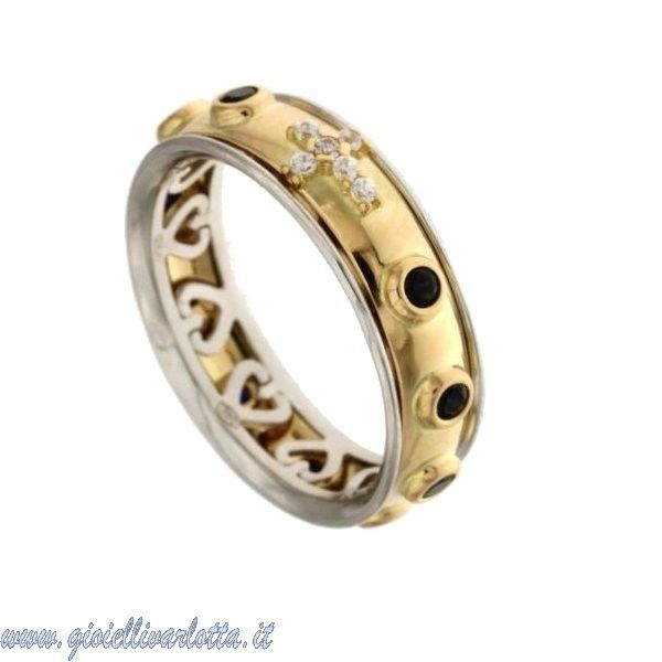 #Rosario #Anello in #OroGiallo con Pietre Blu #Shopping #ONLINE http://www.gioiellivarlotta.it/product.php?id_product=1453