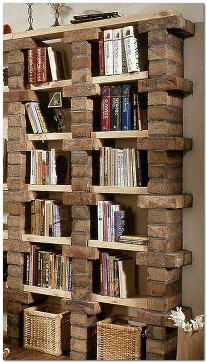 99 Bücherregal-Ideen, mit denen Sie Ihr kleines Apartment stilvoll gestalten können
