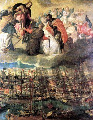 La batalla de Lepanto por Paolo Veronese #Wikimedia #Pintura