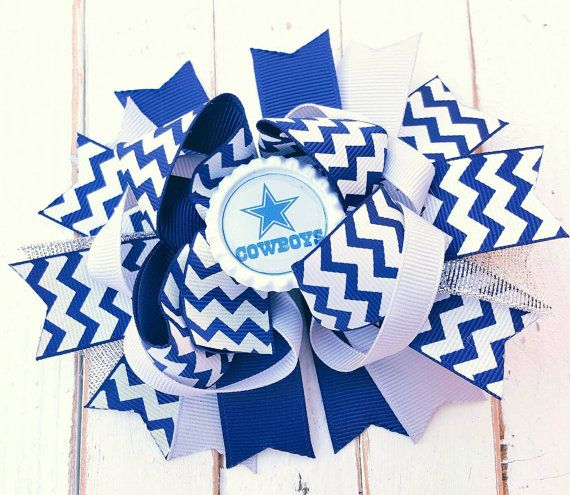 Check out this item in my Etsy shop https://www.etsy.com/listing/277878830/dallas-cowboys-bow-dallas-cowboys-gear
