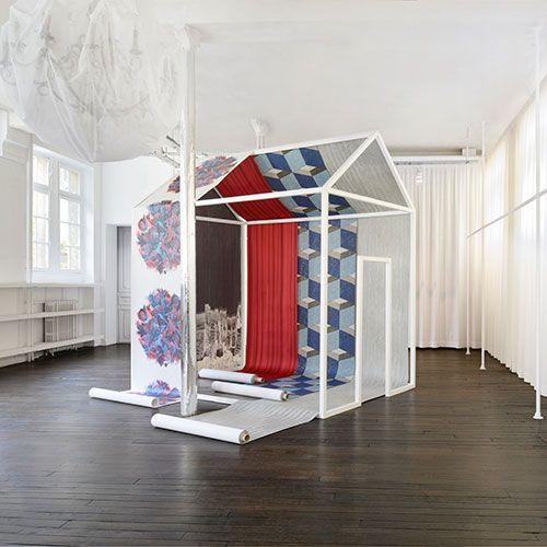 Maison Martin Margiela x Omexco first wallpaper collection includes trompe l'œil, optical illusions and reinterpreted motifs and comprises five designs: La Paésine, La Mosaïque, Le Rideau, Le Point de Croix, and L'optique.