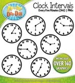 Clock Face Every 5 Minutes Intervals Clipart {Zip-A-Dee-Do