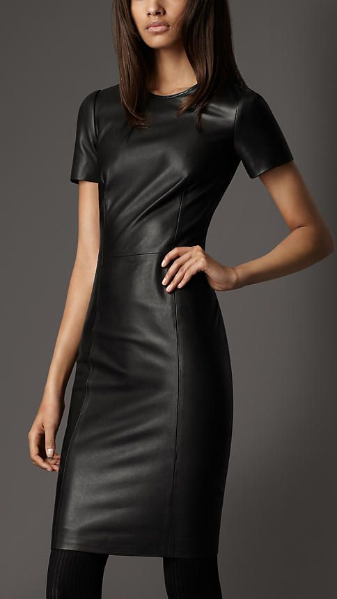 Want.... now....    Burberry - FITTED LEATHER DRESS
