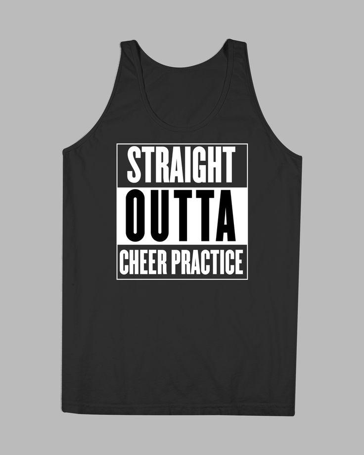 Cheer Shirt Design Ideas best 25 cheer shirts ideas on pinterest cheerleading shirts cheer clothes and cheerleading Straight Outta Cheer Practice Tank Cheer Gear
