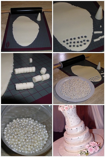 Tutorial for making sugar pearls.