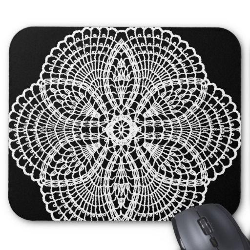 Doily Art Mouse Pad