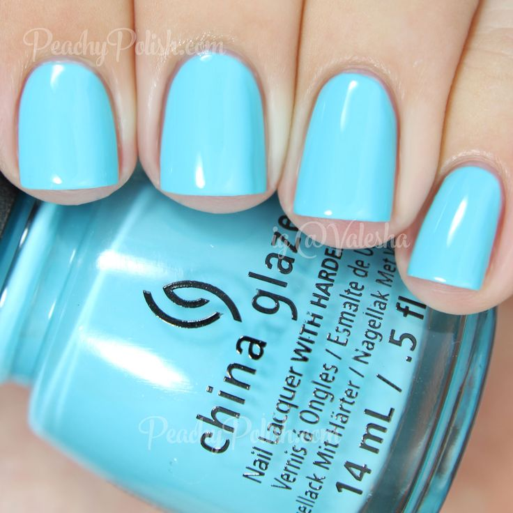 "China Glaze Capacity To See Beyond | The Giver Collection | Peachy Polish ""Capacity To See Beyond"" is a perfect sky blue creme. They are hitting it out of the park with formulas in this collection. 2 breezy coats!"