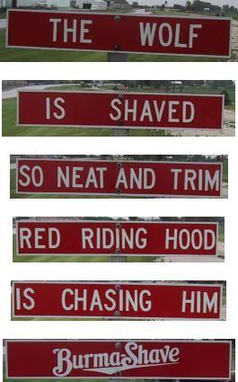 Burma Shave Signs