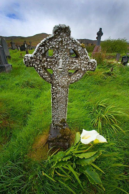 Traditional Celtic cross ... Co. Mayo, Ireland