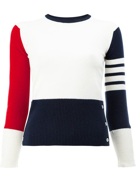 THOM BROWNE Colour Block Sweater. #thombrowne #cloth #sweater