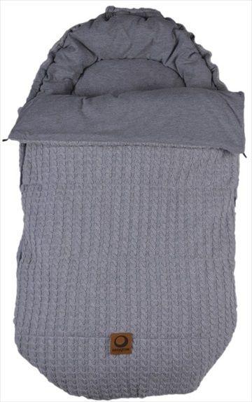 EASYGROW 'Grandma' Sovepose/Vognpose - Grey/Grå Melange. Nydelig 'retro' stil sovepose, denne 'Grandma' soveposen er laget av myk bambus og ull. Posen er beregnet på helårsbruk og har en avtagbar dundyne - den beste av begge verdener! Frifrakt Kr 2399