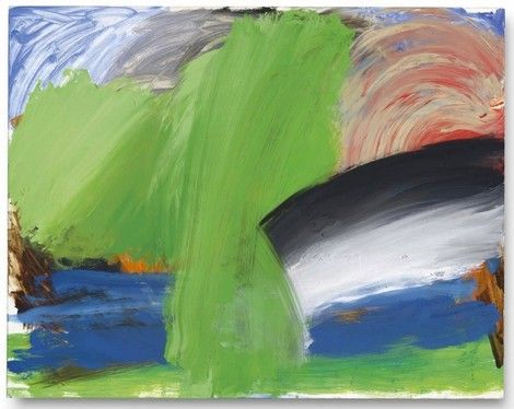 Howard Hodgkin, Rain at ll Palazzo, 1993-98. on ArtStack #howard-hodgkin #art
