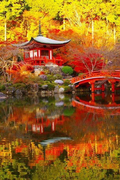 弁天堂。醍醐寺一番の紅葉の名所