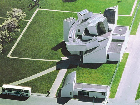 The Vitra Museum, on the Vitra campus in Weil-am-Rhein (Germany) , designed by Franck O. Gehry, which hosted a retrospective on his work from last trimester of 2010 to 13 January 2011.