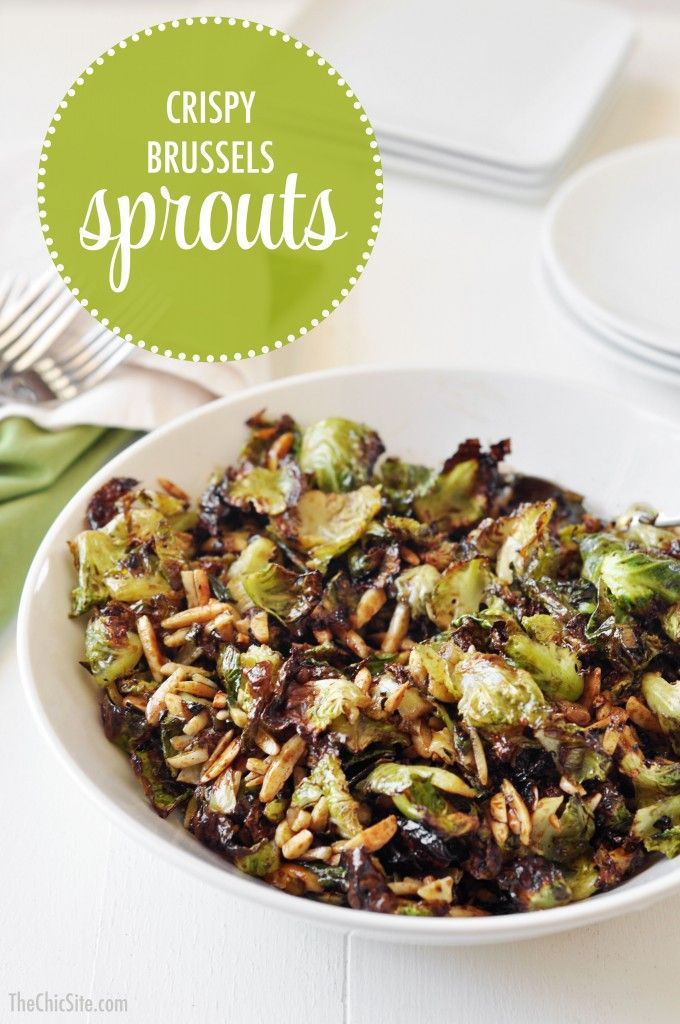Crispy Brussels Sprouts (with balsamic-soy-honey reduction)