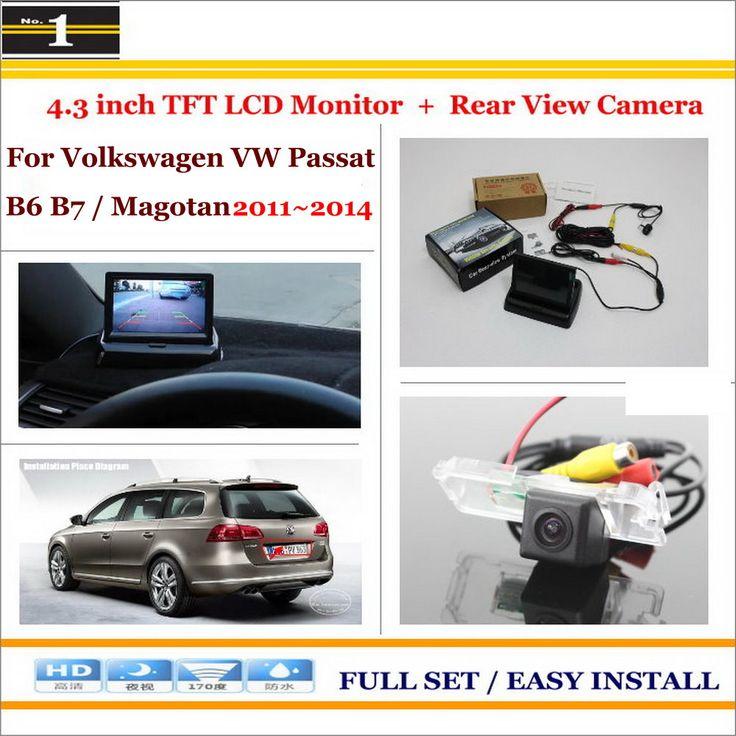 "4.3"" TFT LCD Monitor + Car Rearview Back Up Camera = 2 in 1 Car Parking System - For Volkswagen VW Passat B6 B7 / Magotan"